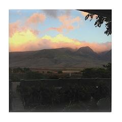 Maui Mountains Tile Coaster