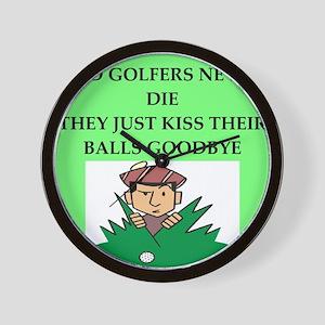 golfing joke Wall Clock