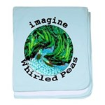Imagine Whirled Peas baby blanket