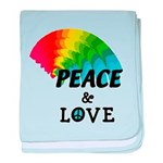 Rainbow Peace Love baby blanket