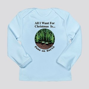 Xmas Peas on Earth Long Sleeve Infant T-Shirt