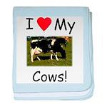 Love My Cows baby blanket