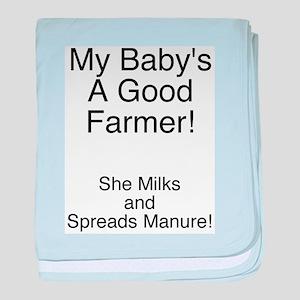 Farmer Baby - Girl Infant Blanket
