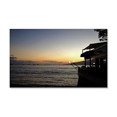 Maui Restaurant at Sunset Decal Wall Sticker