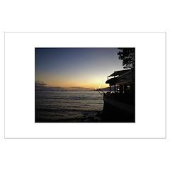 Maui Restaurant at Sunset Poster
