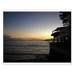 Maui Restaurant at Sunset Small Poster