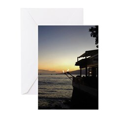 Maui Restaurant at Sunset Greeting Cards