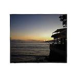 Maui Restaurant at Sunset Throw Blanket
