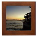 Maui Restaurant at Sunset Framed Tile
