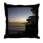 Maui Restaurant at Sunset Throw Pillow