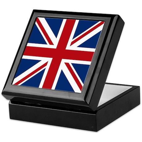 United Kingdom Union Jack Flag Keepsake Box