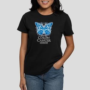 Colon Cancer Butterfly Women's Dark T-Shirt