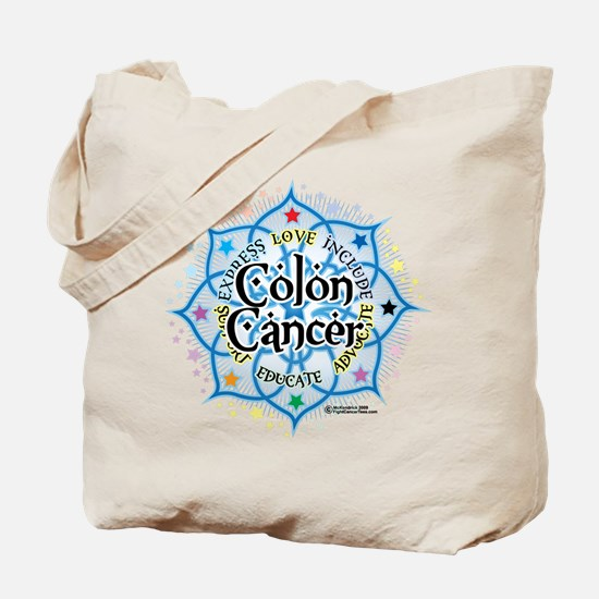 Colon Cancer Lotus Tote Bag