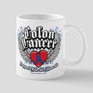Colon Cancer Wings Mug