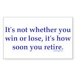 Retirement Rectangle Sticker