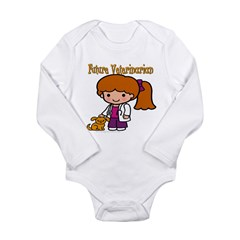 Future Veterinarian Long Sleeve Infant Bodysuit