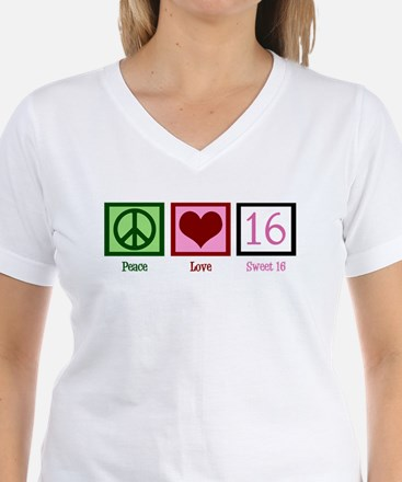 Peace Love Sweet 16 Shirt