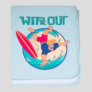 Wipe Out Surfer Infant Blanket