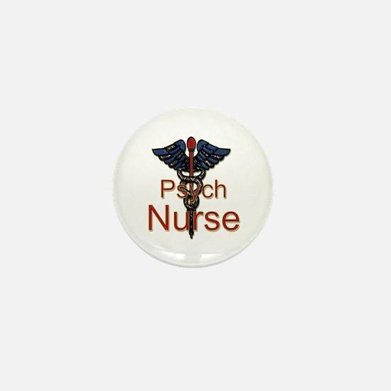 Cute Psych nurse Mini Button