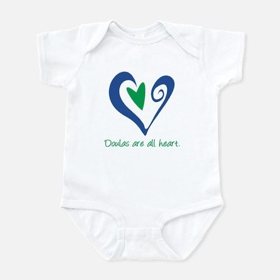 Doulas All Heart Green Infant Bodysuit