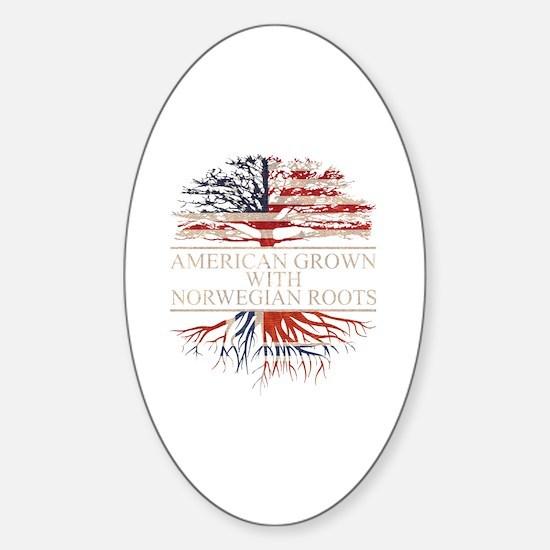 Unique Norwegian american Sticker (Oval)