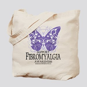 Support Fibromyalgia Butterfl Tote Bag