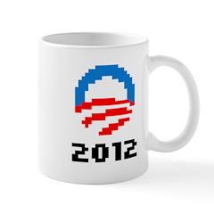 Obama 2012 Pixel Logo Mug