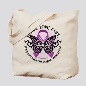 Fibromyalgia Butterfly Tribal Tote Bag