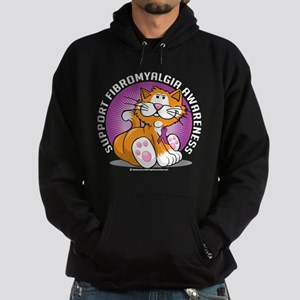 Support Fibromyalgia Cat Hoodie (dark)