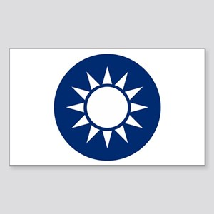 Taiwan Coat of Arms Rectangle Sticker