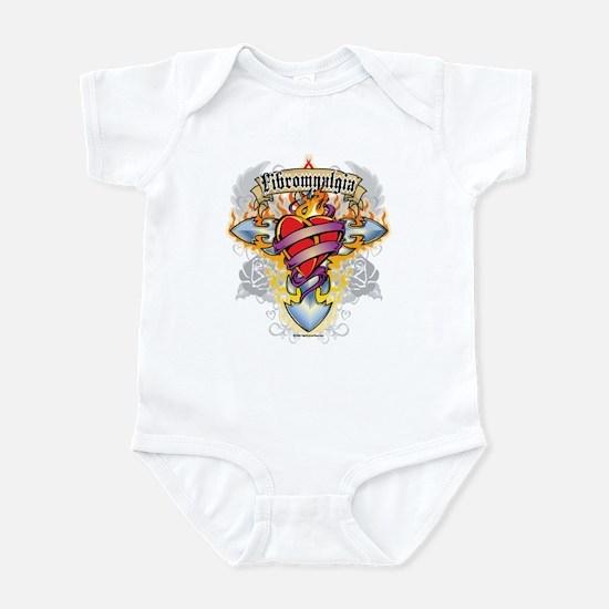 Fibromyalgia Cross & Heart Infant Bodysuit