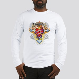 Fibromyalgia Cross & Heart Long Sleeve T-Shirt