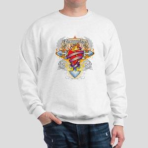 Fibromyalgia Cross & Heart Sweatshirt