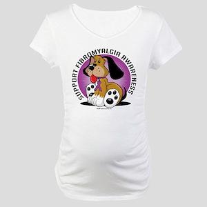 Fibromyalgia Dog Maternity T-Shirt