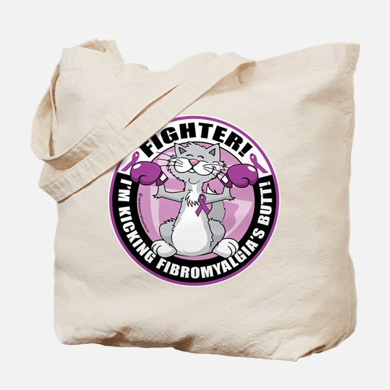 Fibromyalgia Cat Fighter Tote Bag