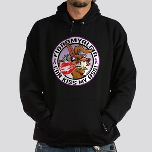 Fibromyalgia Can Kiss My Ass Hoodie (dark)