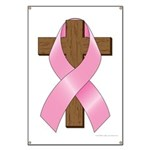 Pink Ribbon and Cross Banner