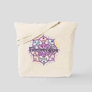 Fibromyalgia Lotus Tote Bag