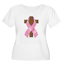 Pink Ribbon and Cross T-Shirt