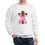 Pink Ribbon and Cross Sweatshirt