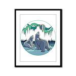 Polar Bear Framed Panel Print