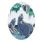 Polar Bear Ornament (Oval)