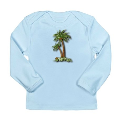 Twin palms Long Sleeve Infant T-Shirt