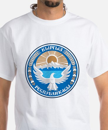 Kyrgyzstan Coat of Arms White T-Shirt