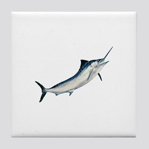 Striped Marlin (untitled) Tile Coaster