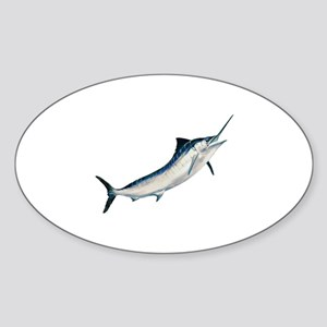 Striped Marlin (untitled) Sticker (Oval)