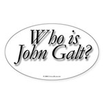Who is John Galt Oval Sticker
