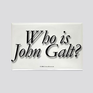 Who is John Galt Rectangle Magnet