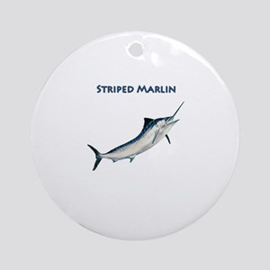 Leaping Striped Marlin Logo Ornament (Round)