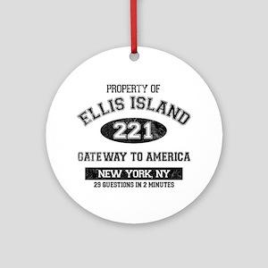 Ellis Island Ornament (Round)